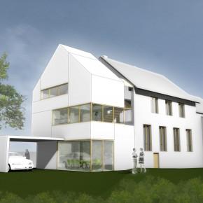 Wohnhausanbau Entwurf, Dreis