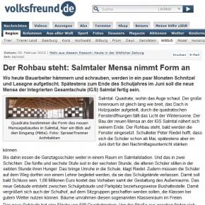 Rohbau fertiggestellt / Bericht im TV